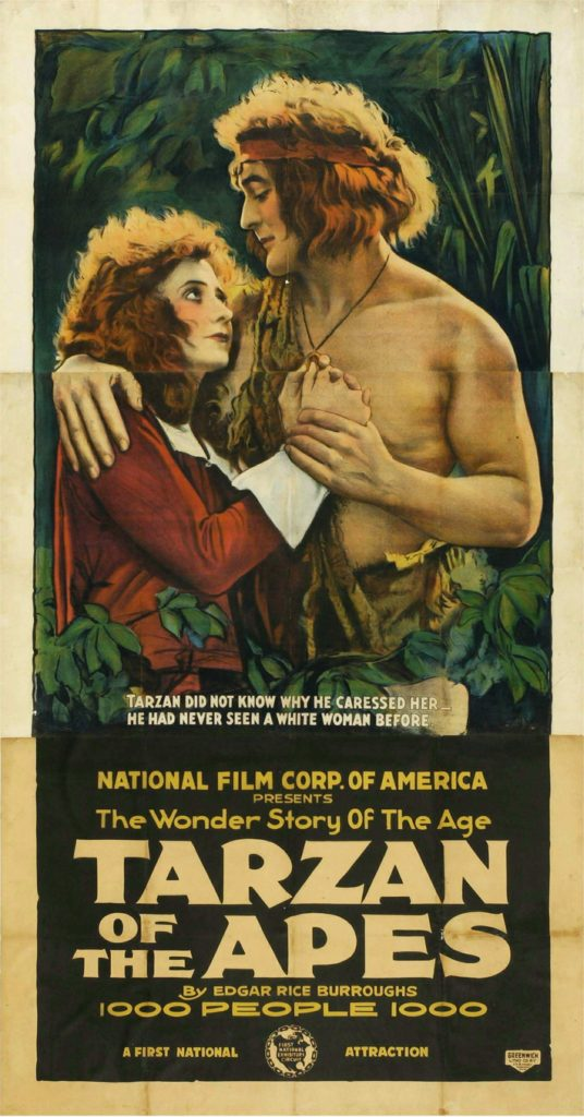 filmaffisch för Tarzan of The Apes 1918