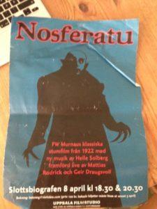 Nosferatu-affisch för filmvisning